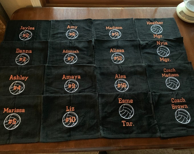 Personalized sport towels, any sport