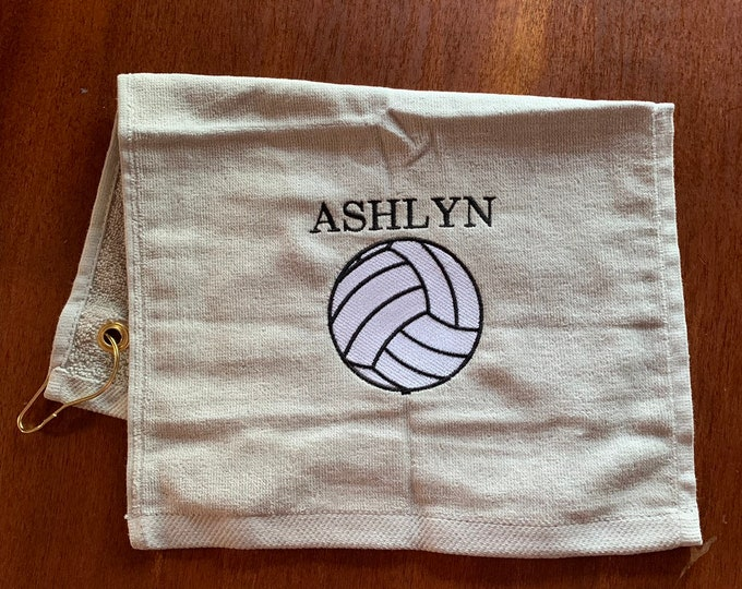 Custom Embroidered personalized Volleyball Towels, Volleyball, Personalized, volleyball towel, fast turnaround, volleyball gift,