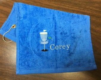 Disc golf, Disc Golf Towel, Custom Personalized, Embroidered Towel, Disc Golfer Towel, Sports Towel, Monogrammed Sports, Frisbee Golf Gift