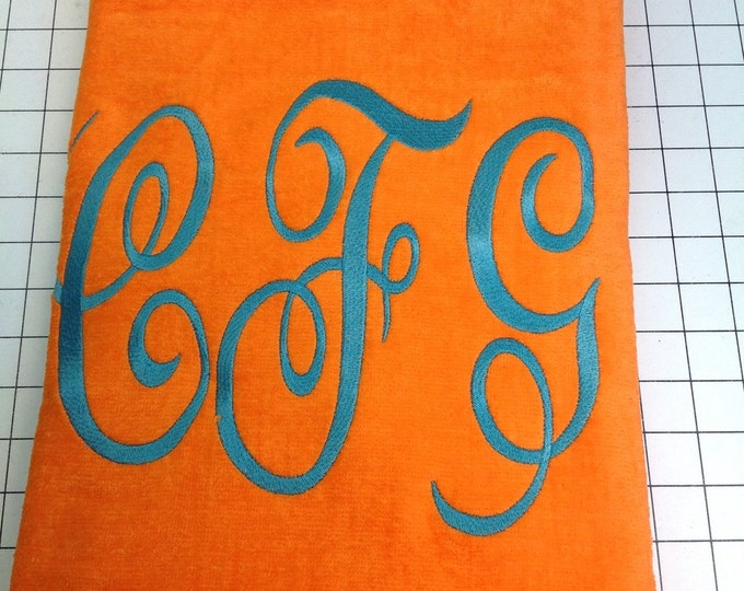 Personalized beach towel, pool towel, monogrammed towels, wedding party gift, water polo, easter gift, kids towels, bath towel, 32 x 60