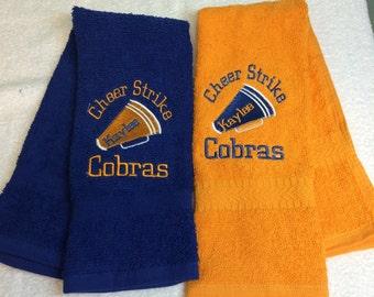 Cheerleading, Personalized, Cheer Towel, Personalized Cheer Gift, Gift for cheerleading, Cheer, Cheerleader, Cheer Towel, Cheerleader Gift,