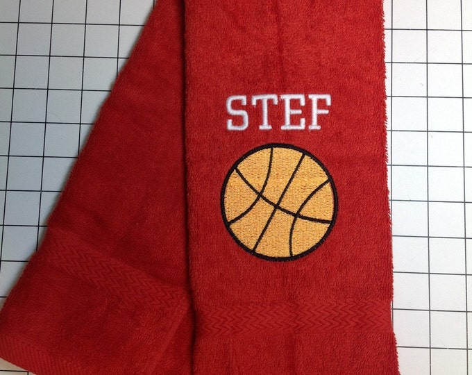 Personalized basketball towel, monogrammed great seller, basketball team towels, basketball gift,