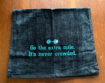 Gym towel, Personalized, workout towel, sweat towel, exercise towel, sport towel, exercise gift, monogram, 16 x 26 or 11 x 17