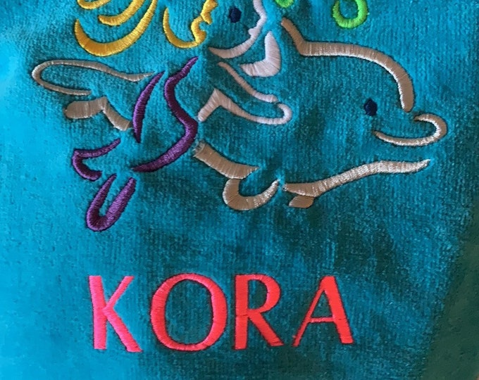 Kora beach towel, towel sale, ready to ship,, Towel as is, I used the wrong name color, free shipping