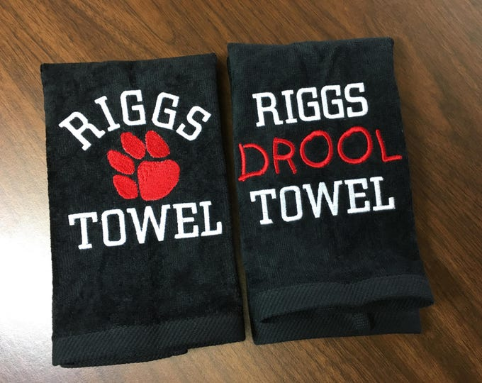 Dog gift, Dog towel, Personalized dog towel, doggy gift, drool towel,
