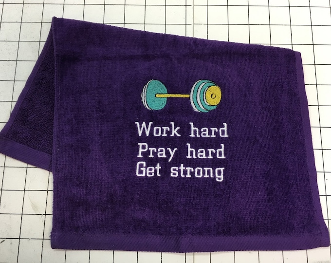 Custom Embroidered towels, made to order