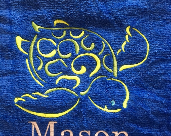 Custom personalized towels. Three size choices.