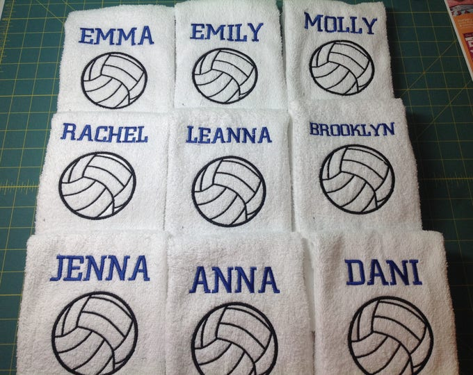 Awesome Volleyball Towels with custom embroidery