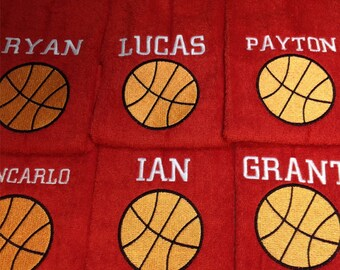 Personalized  basketball towel with custom embroidery