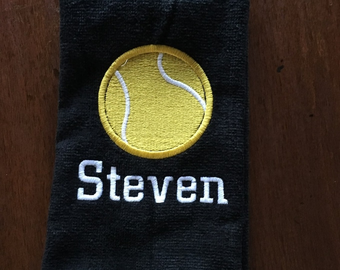 Tennis, Personalized embroidered Tennis towels, message for team orders,