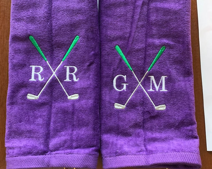 Embroidered Golf Towel, Personalized Golf towel, golf gift, Golf, monogrammed golf towel, Embroidered golf towel, groomsmen golf party,