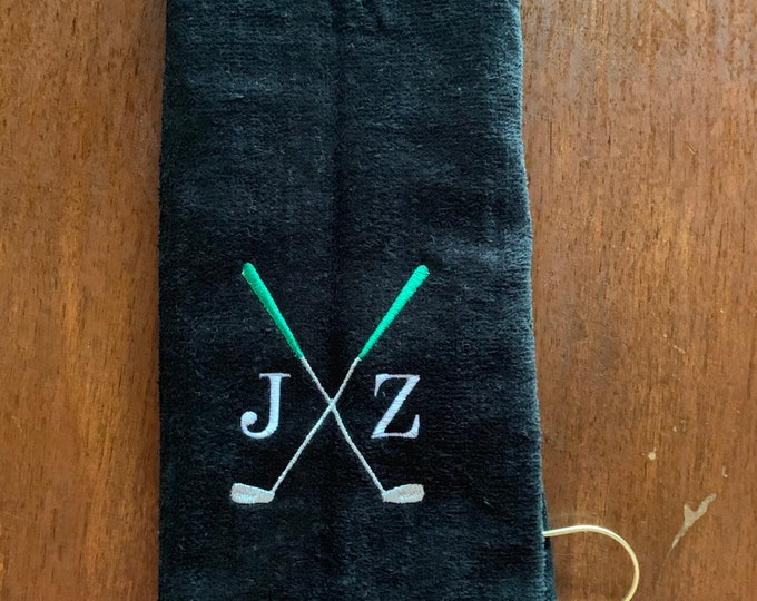 Personalized Golf towel, golf gift, Fast turn around, Golf Accessories, monogrammed golf towel, Embroidered golf towel, groomsmen golf, club