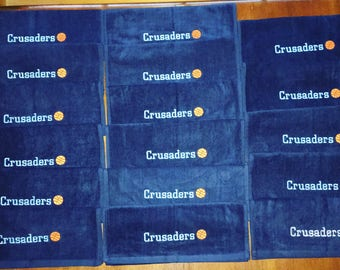 Wholesale personalized towels, pin towels, 20 or more towels, all the same design