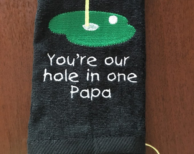 Golf towel with custom personalized embroidery, Golf towel, Personalized Golf towel, golf gift, monogram towel, embroidered towel, 16x26