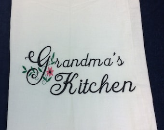 Personalized Dish Towel, great Kitchen gift