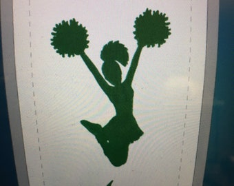 Cheerleader, Cheerleading gift,  Megaphone, personalized towel, any color choices