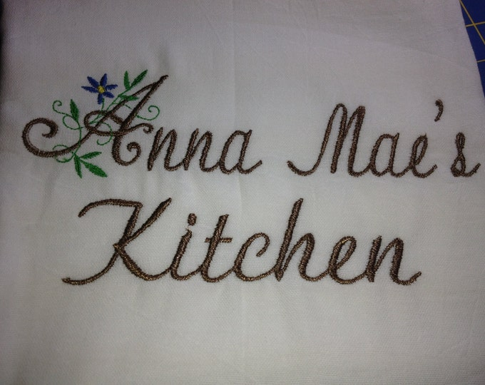 Grandma's Kitchen embroidered towel