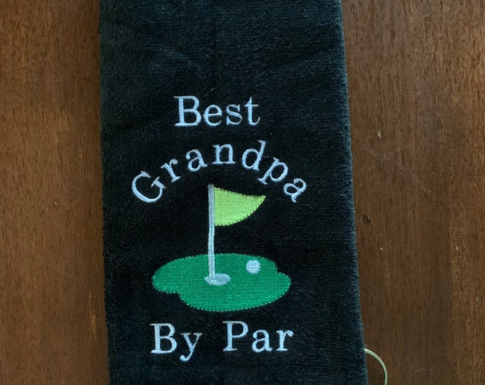 Personalized Golf towel, golf gift, monogram towel, embroidered towel, fast turn around, choice of 2 sizes, one towel