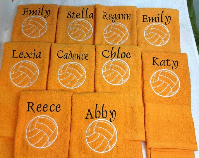Personalized volleyball towel, great seller, volleyball team towels, volleyball gift ******