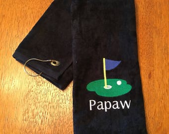 Personalized golf gift great for Christmas.11 x 16 or 16 x 26