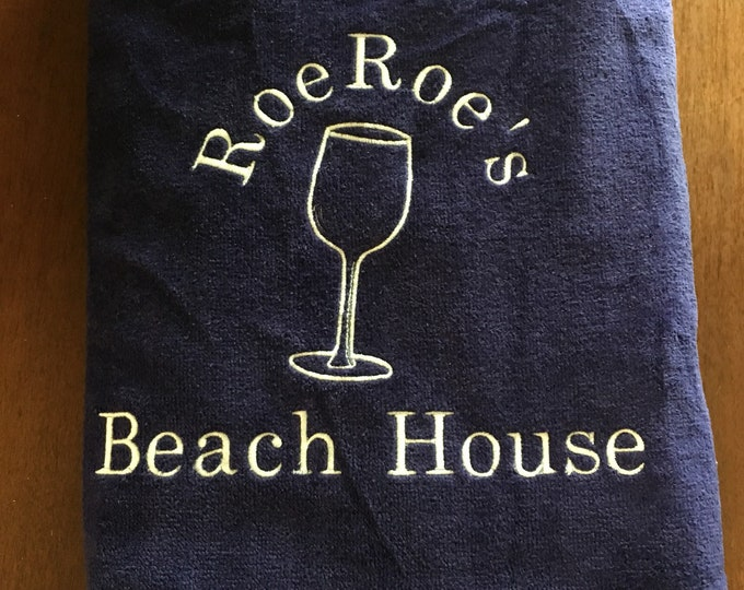 custom personalized adult beach towels, bridesmaid gift,