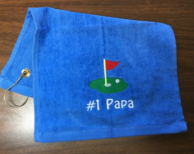 Personalized Royal blue golf towel, Custom Personalized , Embroidered, Golf Gift, Gift for Her, Gift for Him, Fathers Day Golf, 11 x 18