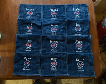 Volleyball towel is great selling towel, terry velour team gift
