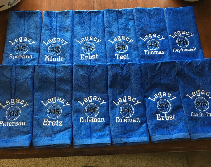 volleyball, personalized towel, volleyball towel, volleyball gift, volleyball coach gift, senior night gift,