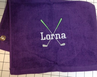 Personalized Golf towel, golf gift, golf favor, Golf Accessories, monogrammed golf towel, Embroidered golf towel, groomsmen golf party, club