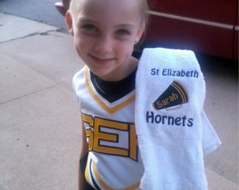 Custom Cheer Towel with personalized Embroidery. 2 size choices