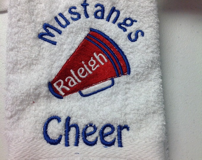 Personalized Cheer Gifts, Custom Embroidered Cheerleader Towel, senior night gift