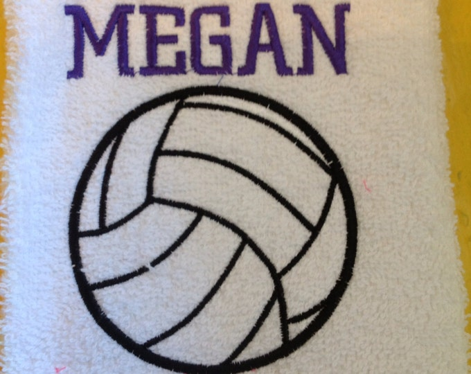 Volleyball, Personalized volleyball towel, volleyball gift, personalized towel, volleyball coach gift, message for team orders