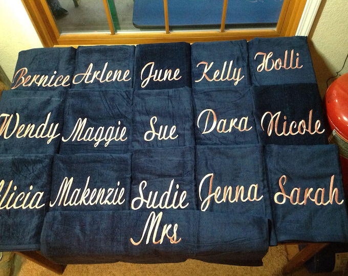 Made to order Personalized Beach towel, monogrammed, beach vacation, pool towel, bachelorette vacation, last plunge,