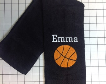 Personalized sport towels, Basketball, Personalized towels, softball, soccer, football, volleyball, tennis, golf, bowling, baseball, fishing