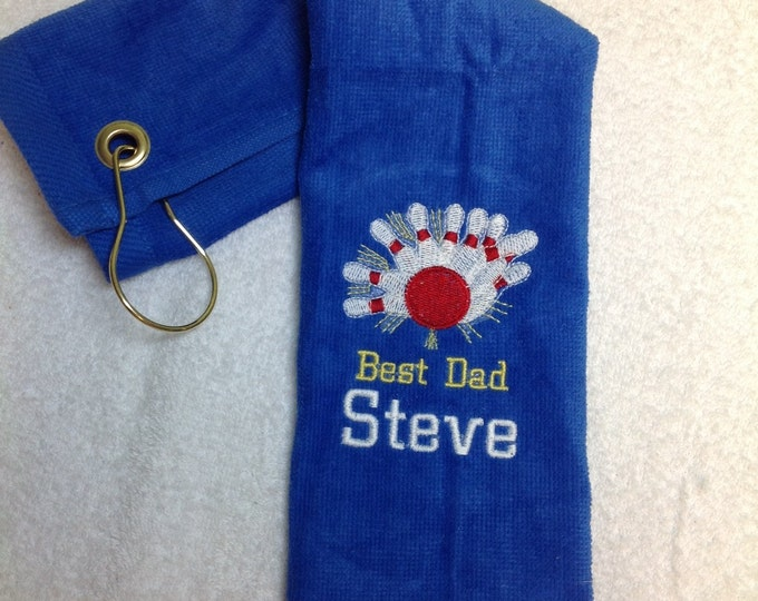 Bowling, Personalized, Bowling towel, embroidered, bowling gift,  fast turnaround, lots of color choices
