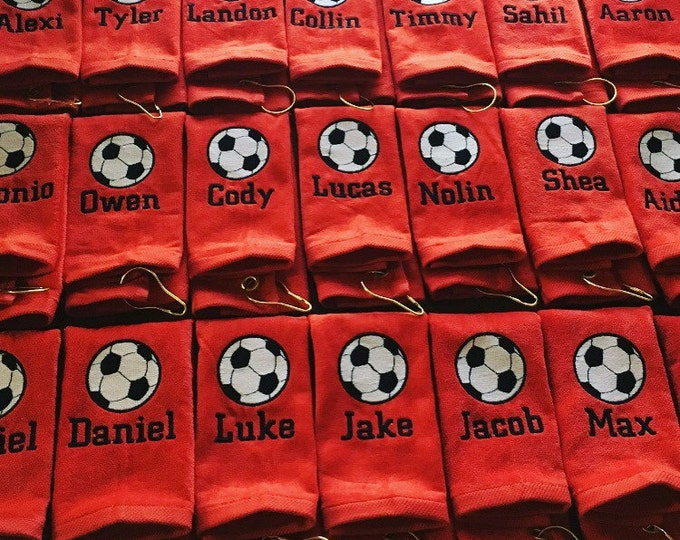 Custom personalized soccer towels