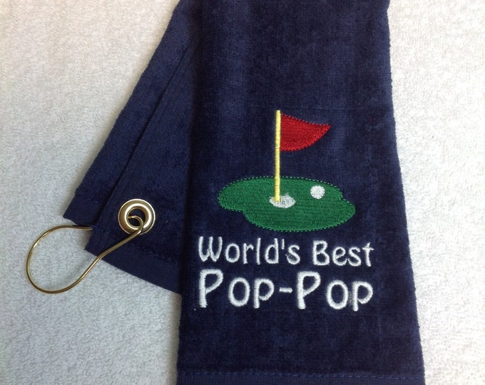 Embroidered Personalized golf towel, monogrammed golf towel, custom golf towel, golf accessories, groomsmen gift