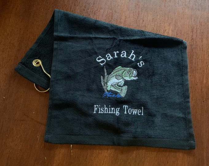 Fishing Towel by Lindakayscreations.Etsy.com