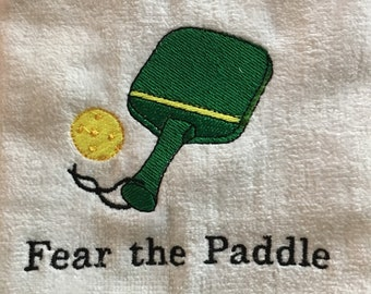 Pickle ball towel, Custom Personalized, Embroidered Towel, Monogrammed Sports, Sports Towel, pickle ball Gift, Embroidery Towel,