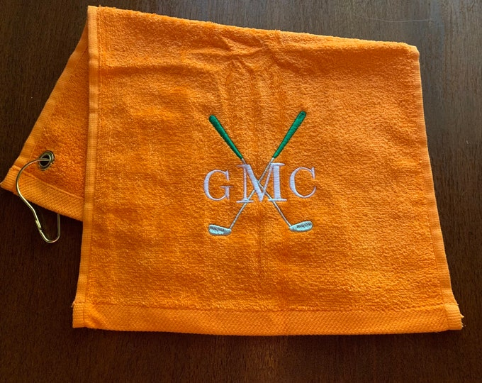 Personalized Golf towel with custom embroidery by Linda Kay's Creations