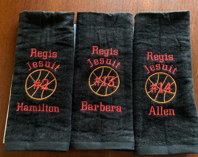 Custom Embroidered Basketball Towel, all sports available, senior night gift