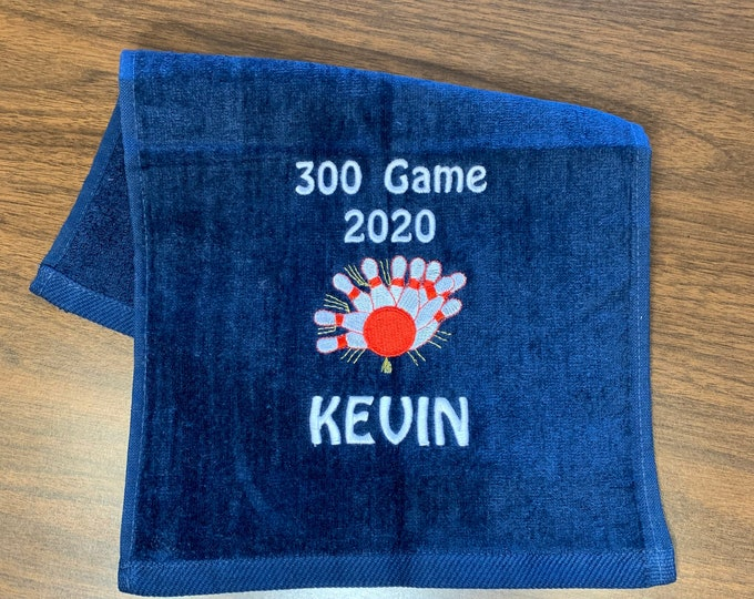 Bowling towels | personalized free | fast turnaround | 300 game, bowling gift
