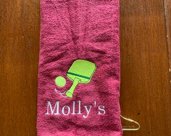 Pickle ball towel, ping pong, Custom Personalized, Embroidered Towel, Monogrammed Sports, Sports Towel, pickle ball Gift,