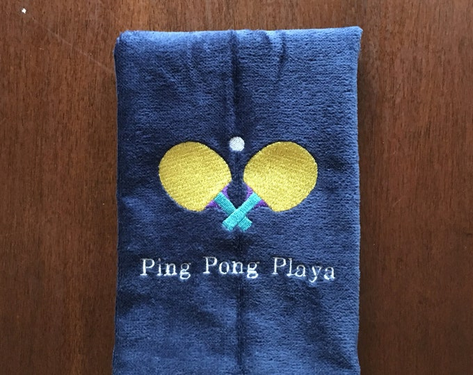 ping pong Custom Personalized Embroidered Towel, Monogrammed Sports, Sports Towel, pickle ball Gift,