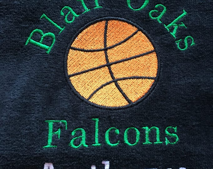 Falcons, Personalized Falcon towel, team towels, falcons, any sport, Emderoridered Towel, Custom Embroidery, Sport Towels, Running, merathon