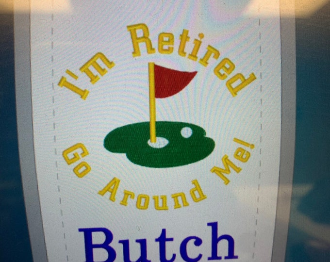 Retirement Golf towel /Personalized Golf Towel / Embroidered Towel / Monogram Golf towel / Embroidered Name / Linda Kays Creations