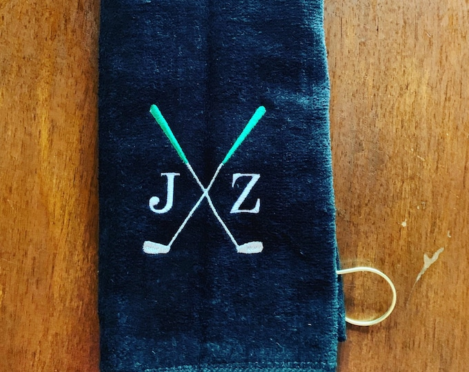Personalized Golf towel, very fast turn, golf gift, Golf Accessories, monogrammed golf towel, Embroidered golf towel, groomsmen golf party,