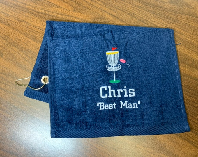 Personalized disc golf towel, great disc golf gift, team towels, disc golf gift