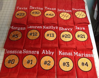 Basketball, Personalized basketball towel, monogrammed great seller, basketball team towels, basketball gift,