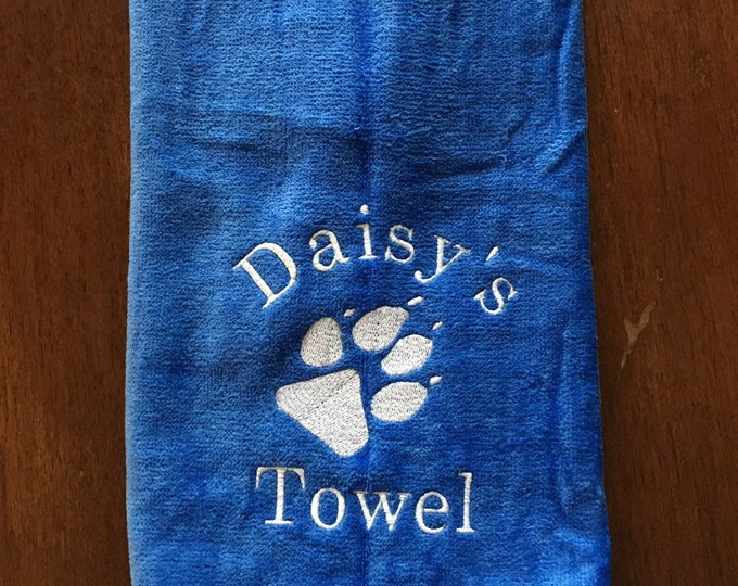 Embroidered dog towel